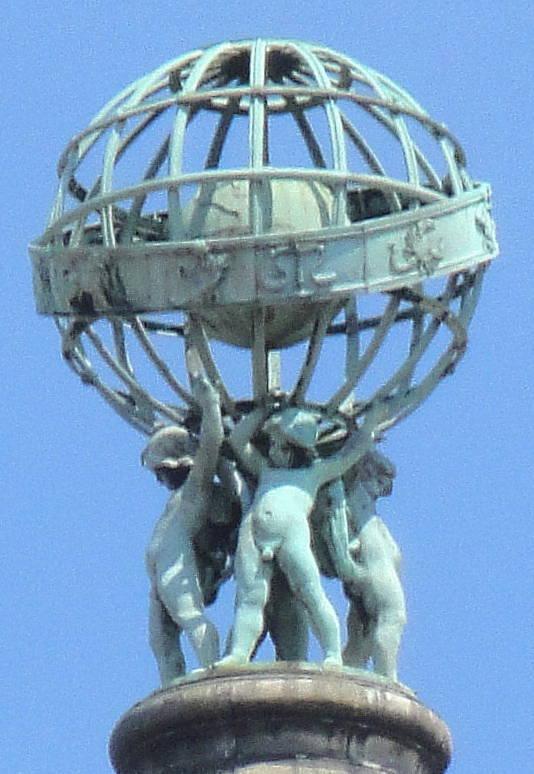 Jaunieji atlantai su žiedine sfera ir zodiako gaubliu